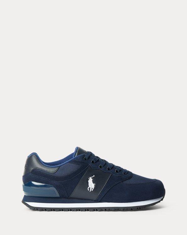 Sneaker Slaton in camoscio