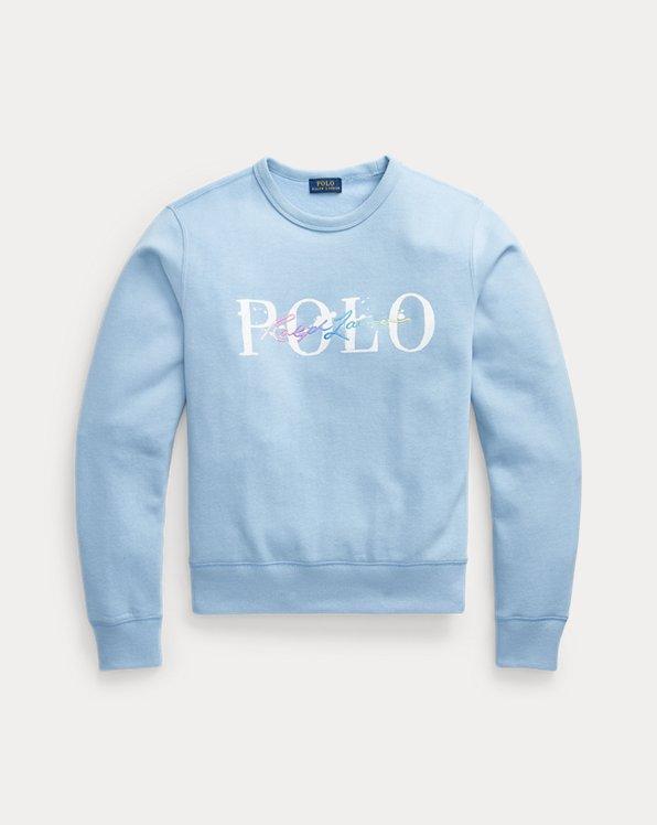Fleece-Sweatshirt mit Logo