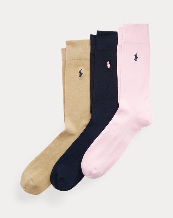 Cotton-Blend Trouser Sock 3-Pack