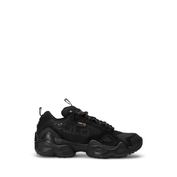 Ralph Lauren Polo Sport Fast Trail Sneaker In Black/black