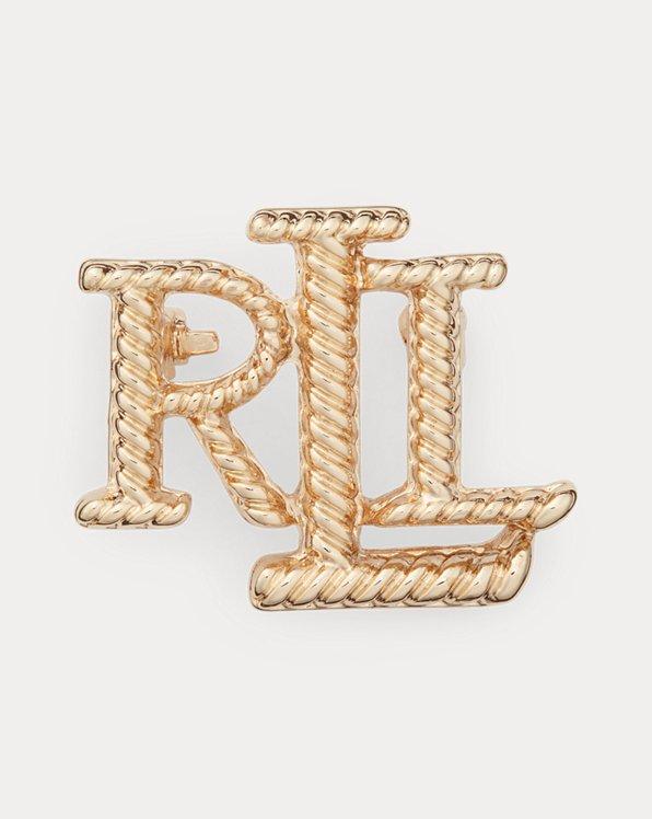 Gold-Tone Logo Rope Pin