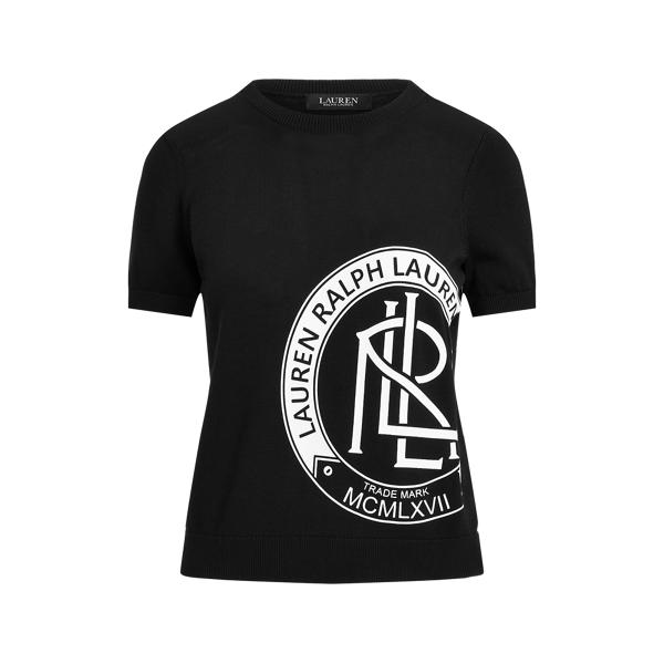 Lauren Ralph Lauren Logo Short-sleeve Sweater In Black