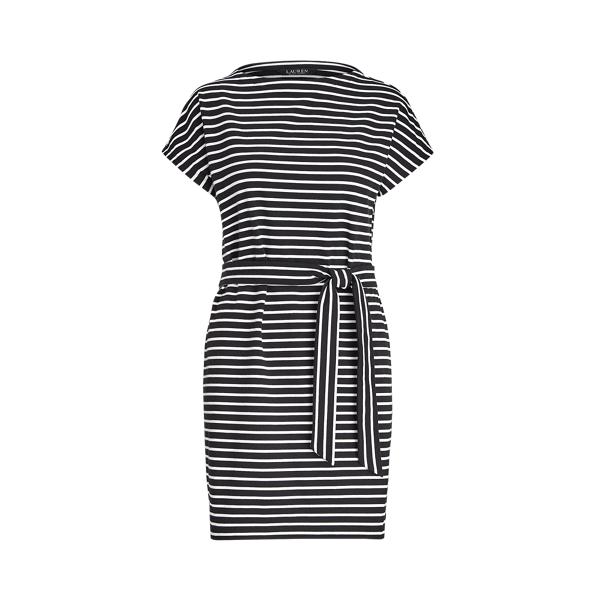 Lauren Ralph Lauren Striped Cotton Jersey Tee Dress In Multi