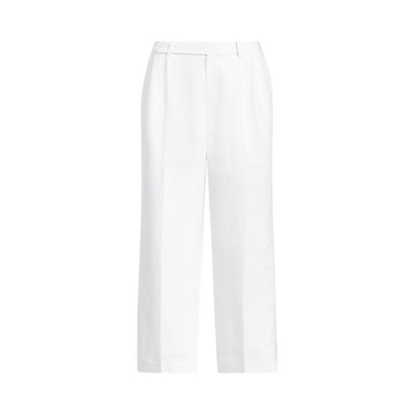 Lauren Ralph Lauren Cropped Linen Twill Pant In White