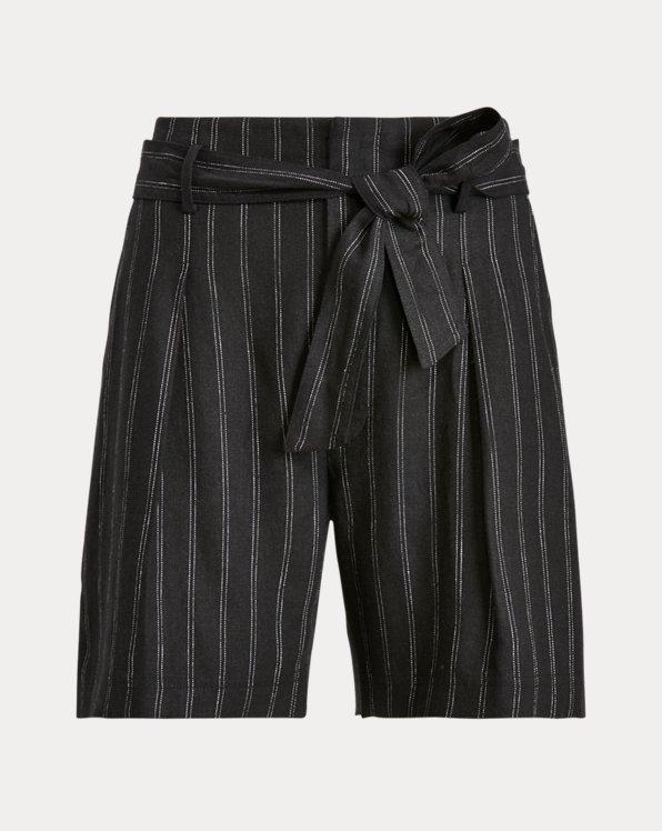 Striped Linen Twill Short