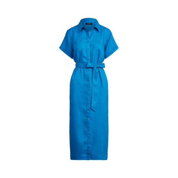 Lauren Ralph Lauren Linen Shirtdress In Summer Topaz