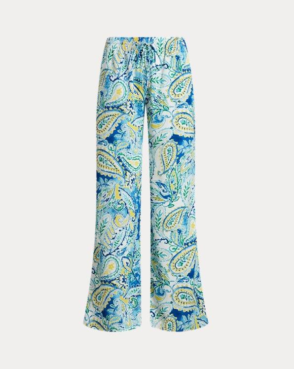 Pantalón de crepé con pernera ancha