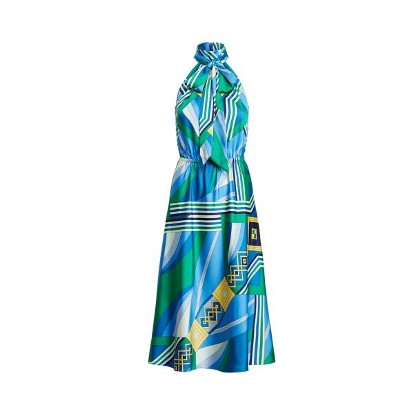 Lauren Ralph Lauren Print Twill Sleeveless Dress In Multi