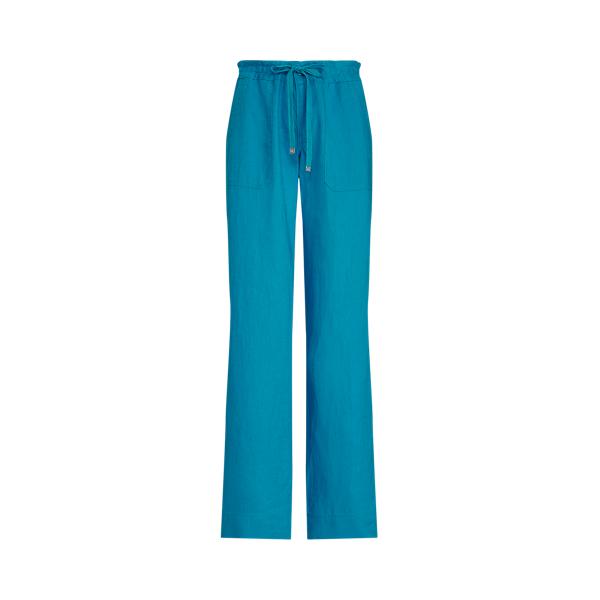Lauren Ralph Lauren Linen Wide-leg Pant In Summer Topaz