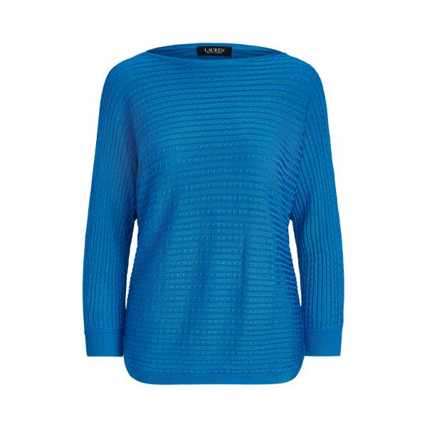 Lauren Ralph Lauren Cable-knit Boatneck Sweater In Summer Topaz