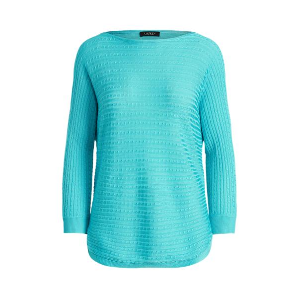 Lauren Ralph Lauren Cable-knit Boatneck Sweater In Capri Water
