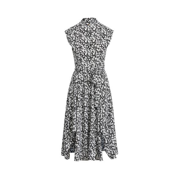 Lauren Ralph Lauren Floral Crepe Sleeveless Dress In Multi