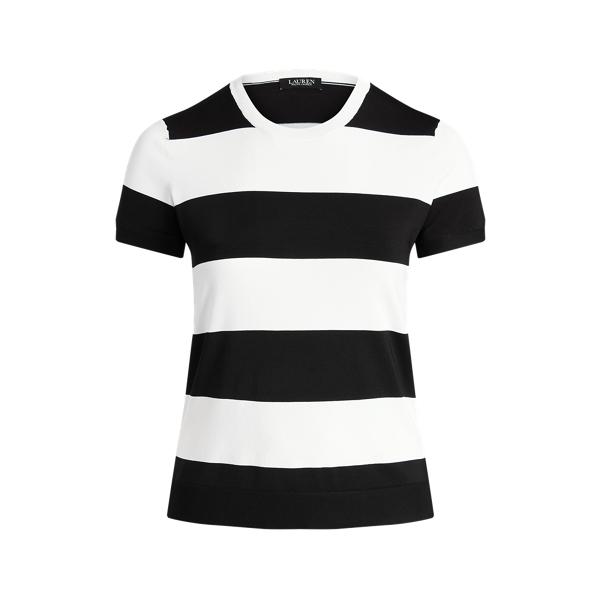 Lauren Woman Striped Short-sleeve Sweater In Multi