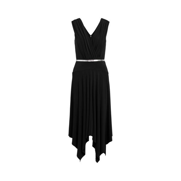 Lauren Ralph Lauren Jersey Sleeveless Dress In Black