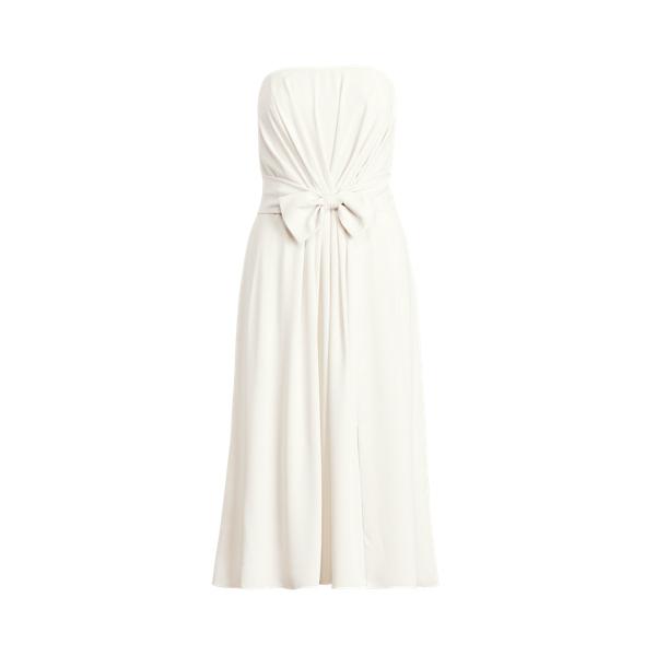 Lauren Ralph Lauren Georgette Strapless Dress In White