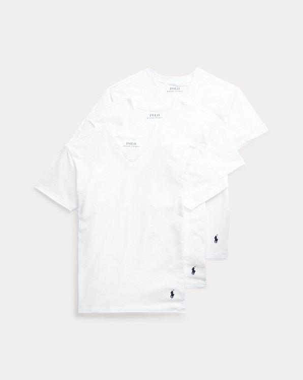 Solid Cotton V-Neck 3-Pack