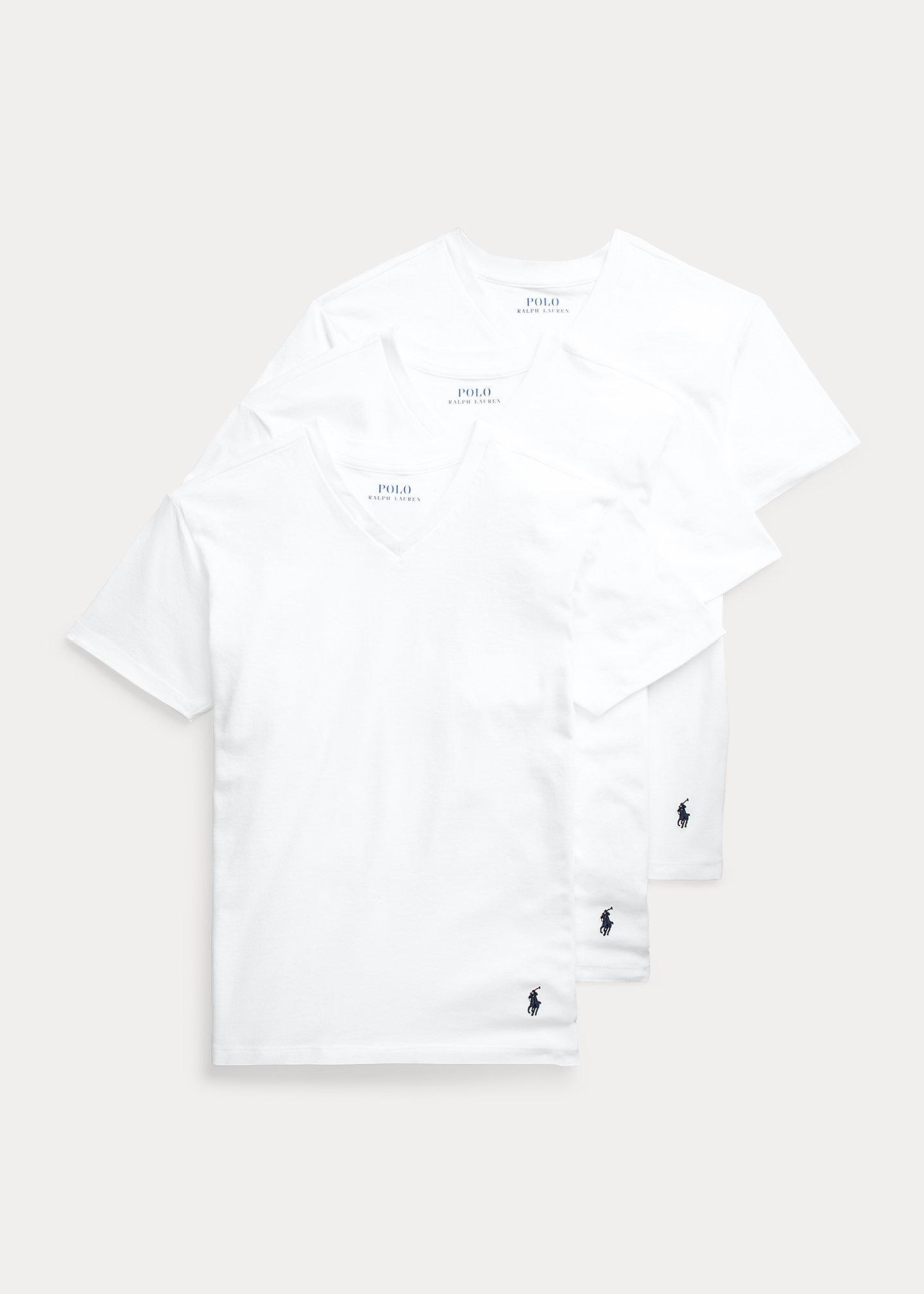 Polo Ralph Lauren Solid Cotton V Neck 3 Pack