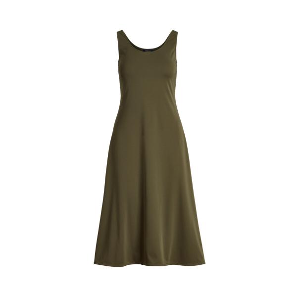 Ralph Lauren Jersey Tank Dress In Green