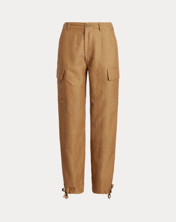 Silk-Blend Cargo Pant