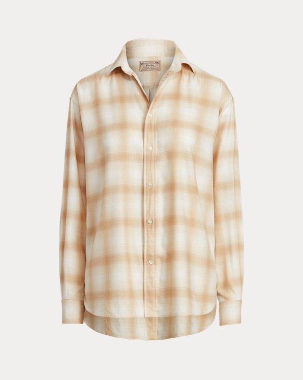 Plaid High-Low Shirt
