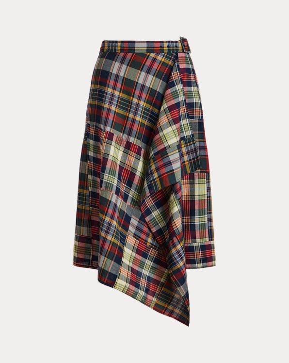 Patchwork Cotton Madras Skirt