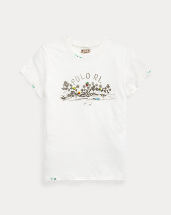 Tropical Cotton Graphic Tee