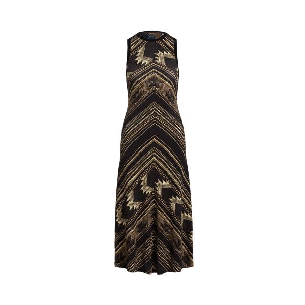 폴로 랄프로렌 Polo Ralph Lauren Southwestern Sleeveless Henley Dress,Chevron Texture Print
