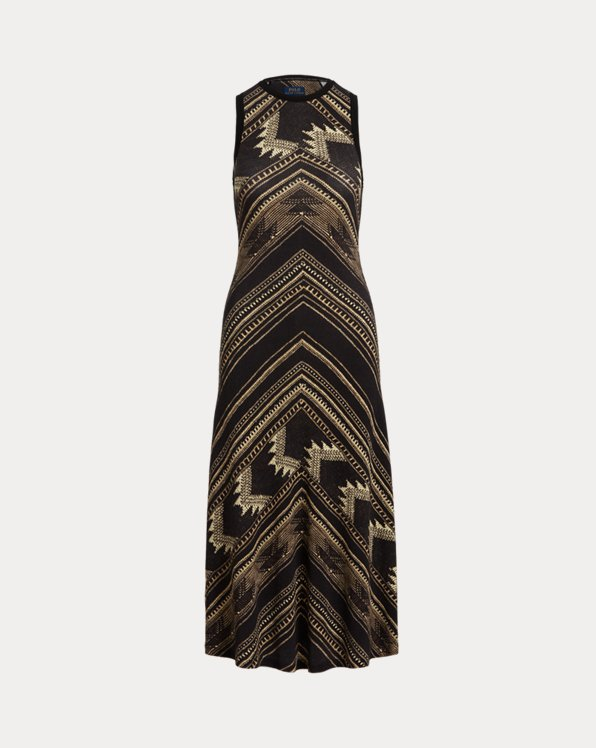 Southwestern Sleeveless Henley Dress