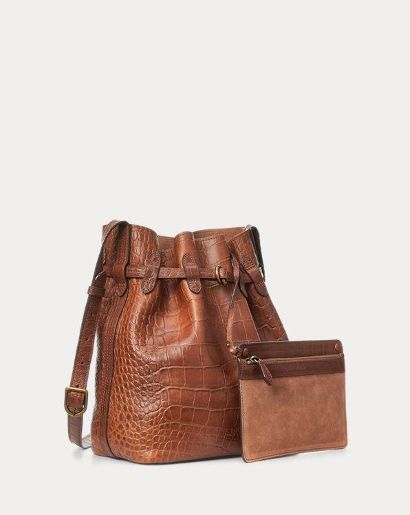 Embossed Bellport Bucket Bag