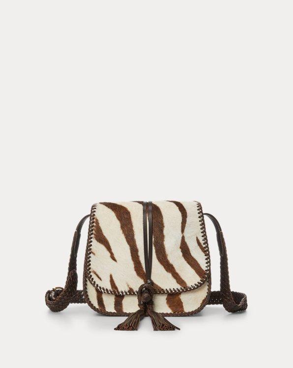 Zebra-Umhängetasche aus Kalbsfell