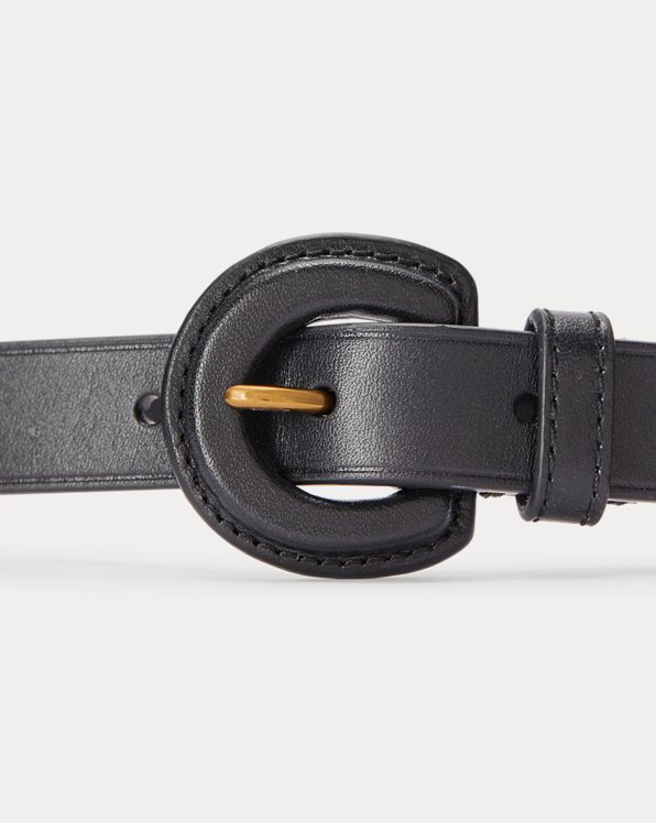 Leather-Buckle Belt