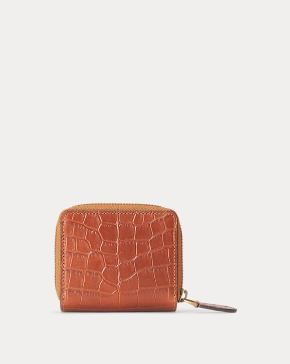Embossed Leather Compact Wallet