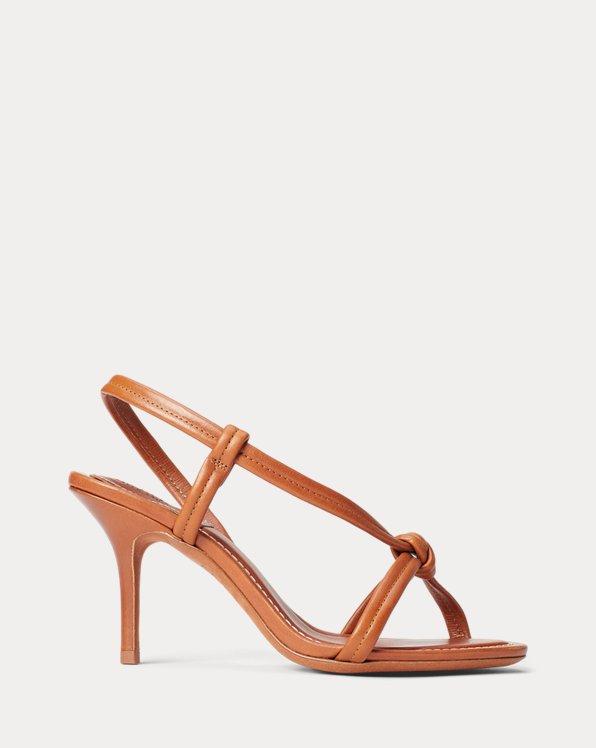 Sandales à noeud en vachette