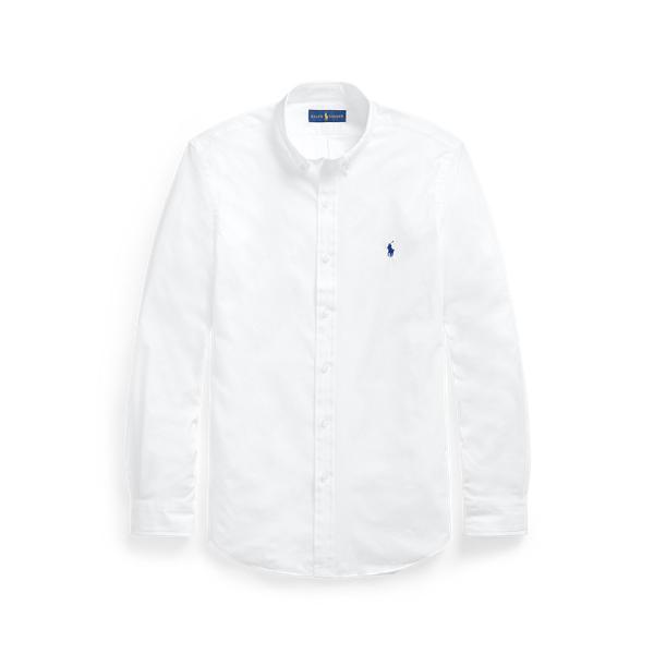 Ralph Lauren Classic Fit Stretch Poplin Shirt In White