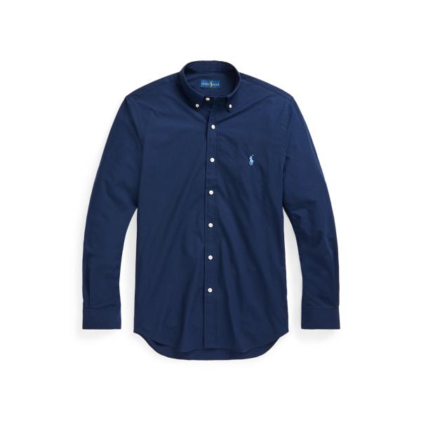 Ralph Lauren Classic Fit Stretch Poplin Shirt In Newport Navy
