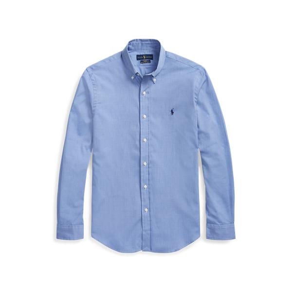 Ralph Lauren Classic Fit Stretch Poplin Shirt In Blue