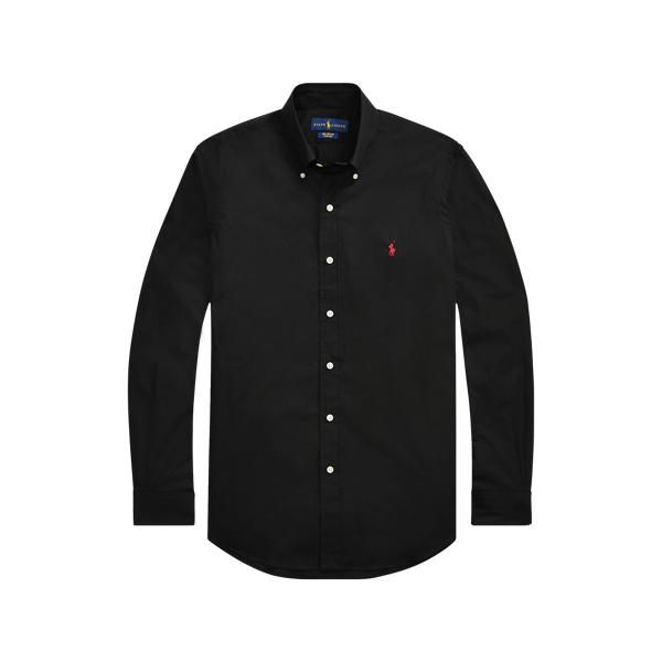Ralph Lauren Slim Fit Stretch Poplin Shirt In Black