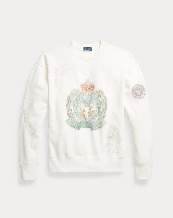 Graphic Crest Fleece Sweatshirt