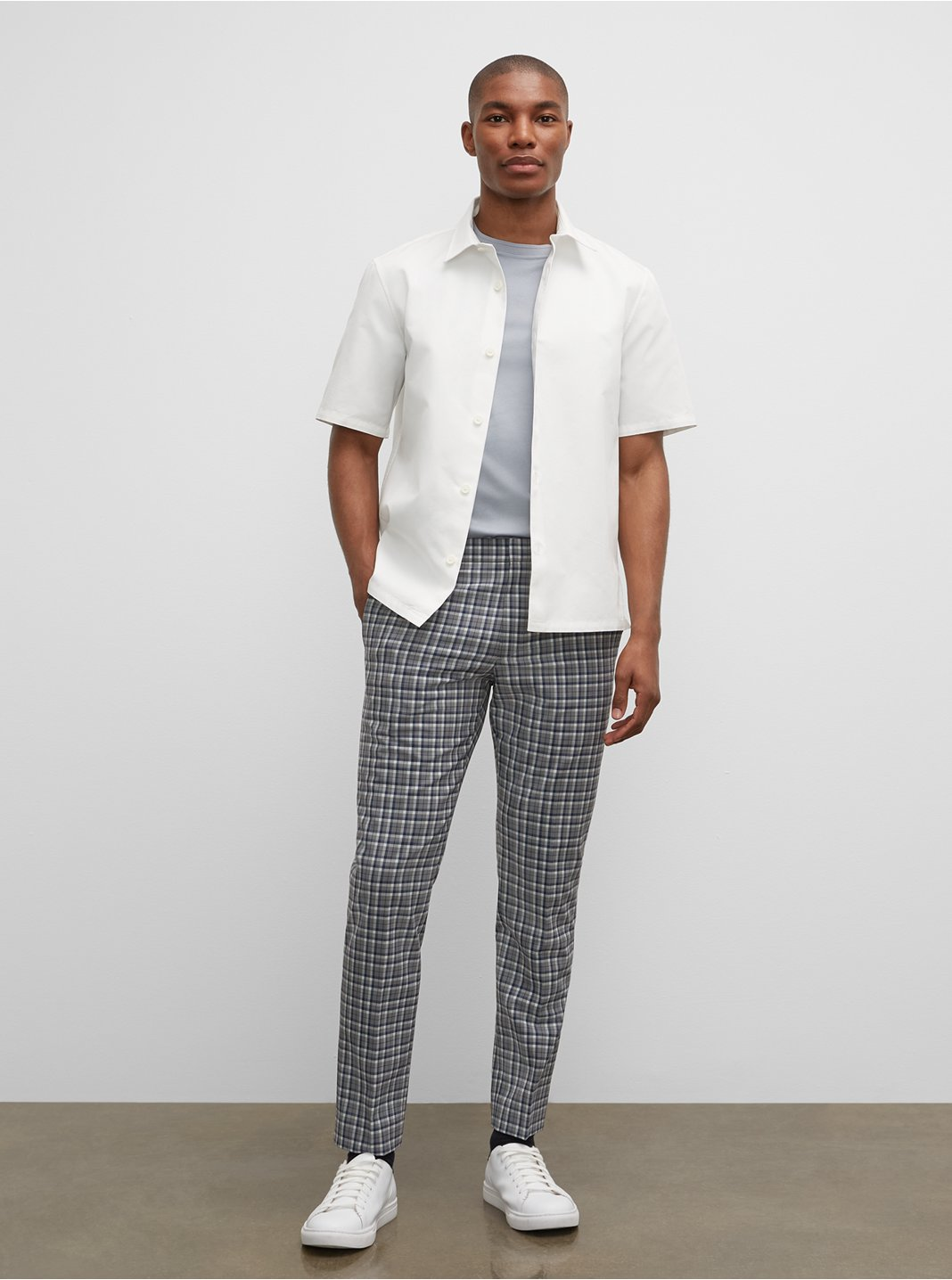 Sutton Large Plaid Dress Pants