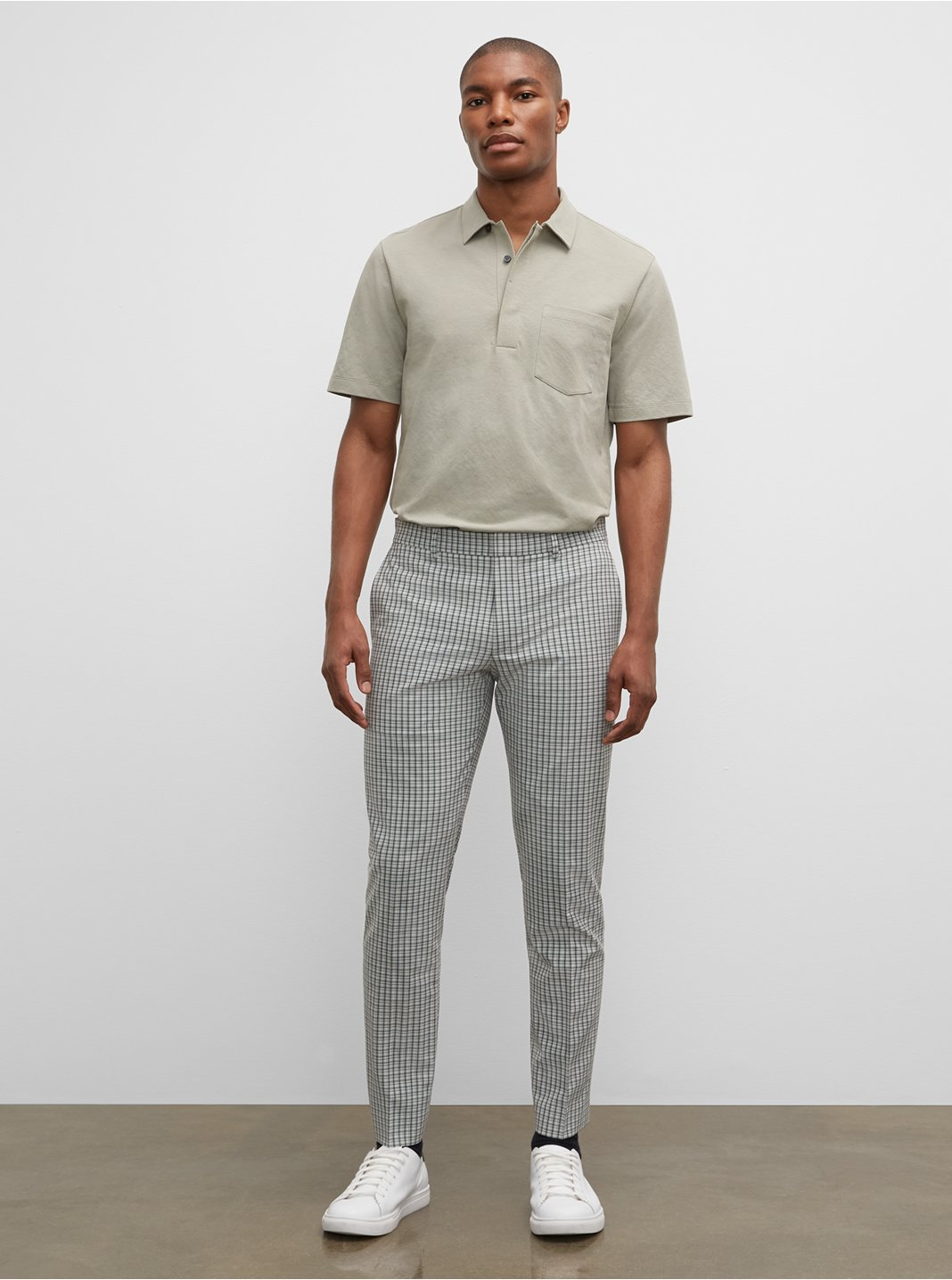 Sutton Check Dress Pants