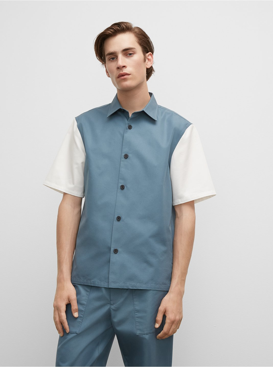 Colorblock Short Sleeve Standard Shirt