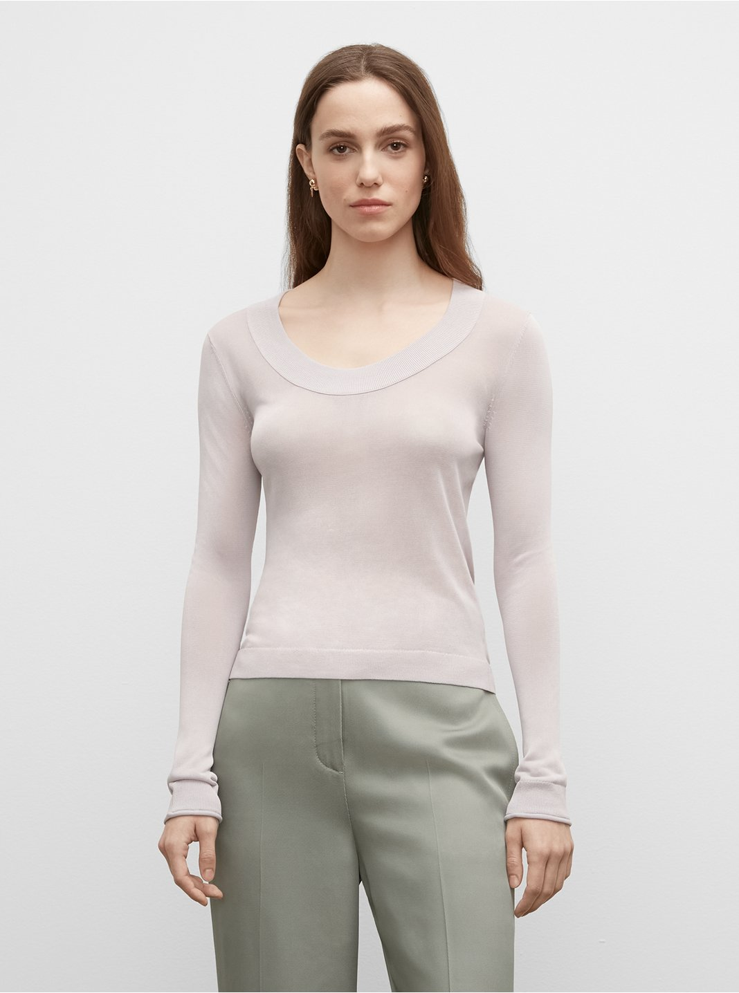 Signature Scoop Neck Sweater
