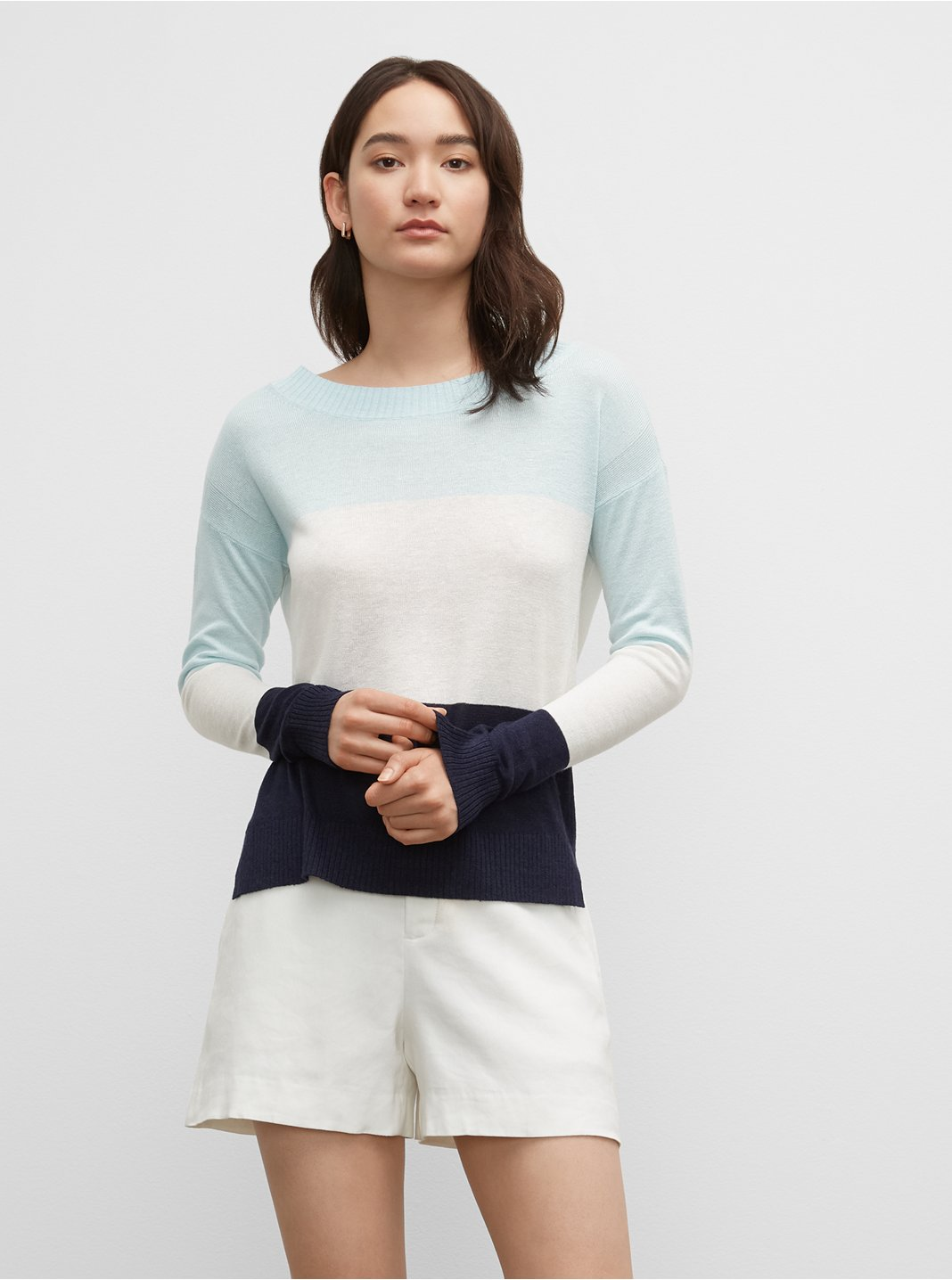 Striped Linen Boatneck