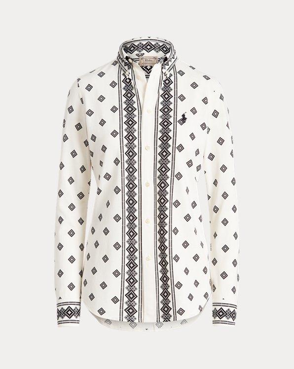 Floral Cotton Button-Down Shirt