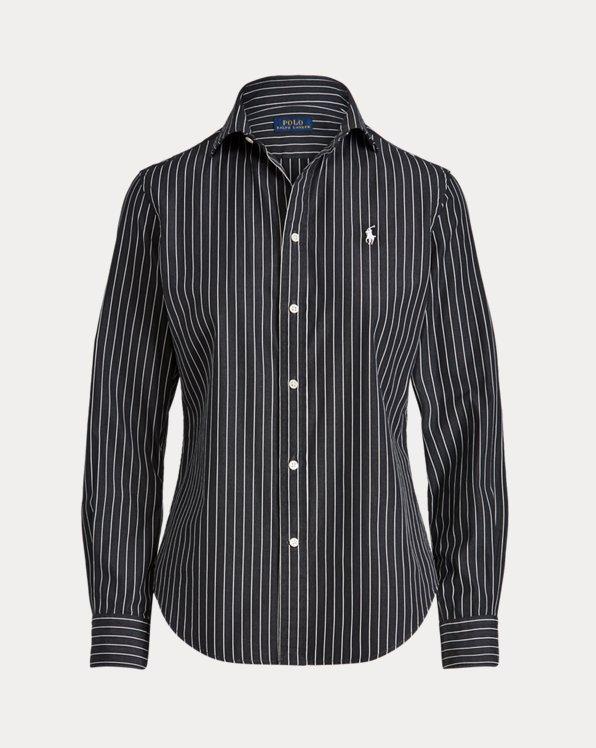Camicia in cotone a righe Classic-Fit