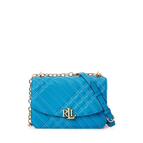 Lauren Ralph Lauren Plaid Quilted Madison Crossbody Bag In Blue
