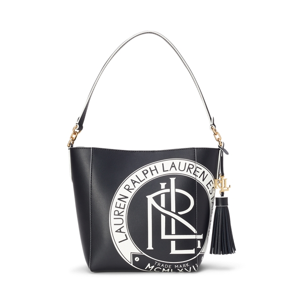 Lauren Ralph Lauren Logo Small Adley Shoulder Bag In Black