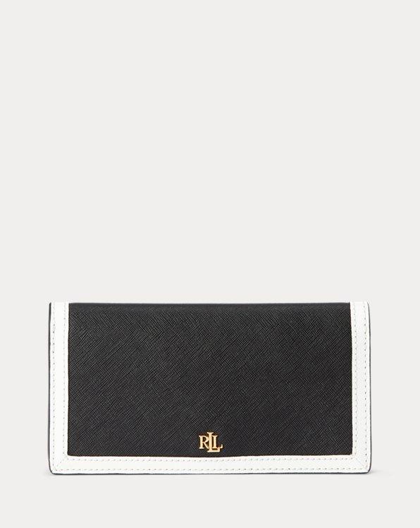 Crosshatch Leather Slim Wallet