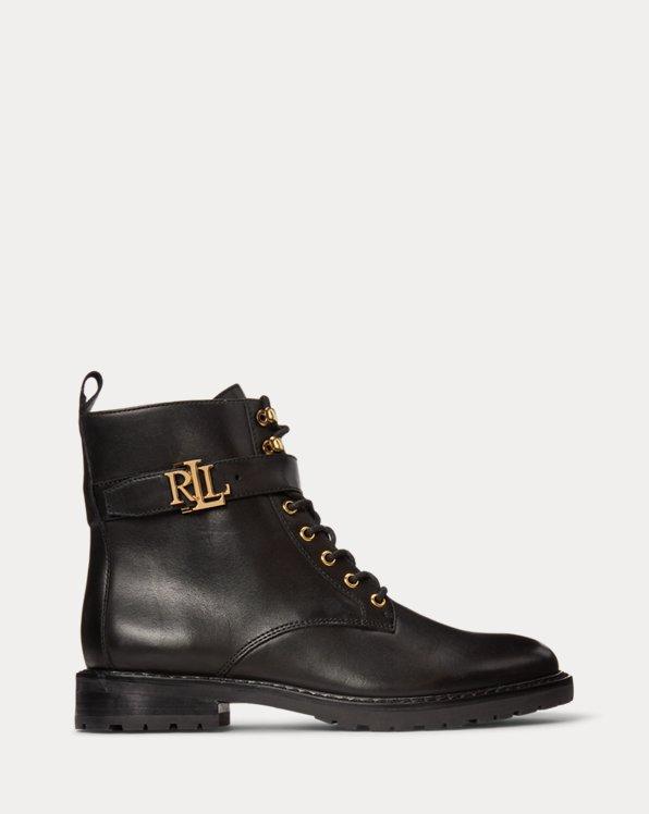 Stiefel Eldridge aus poliertem Leder