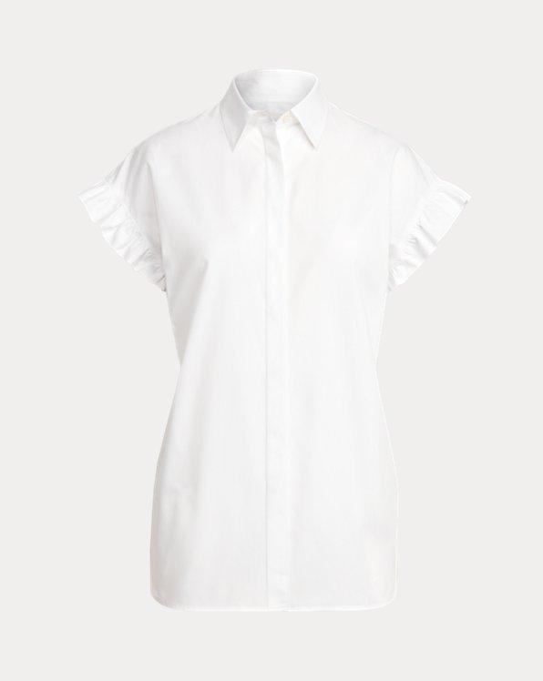 Chemise popeline coton à manches courtes